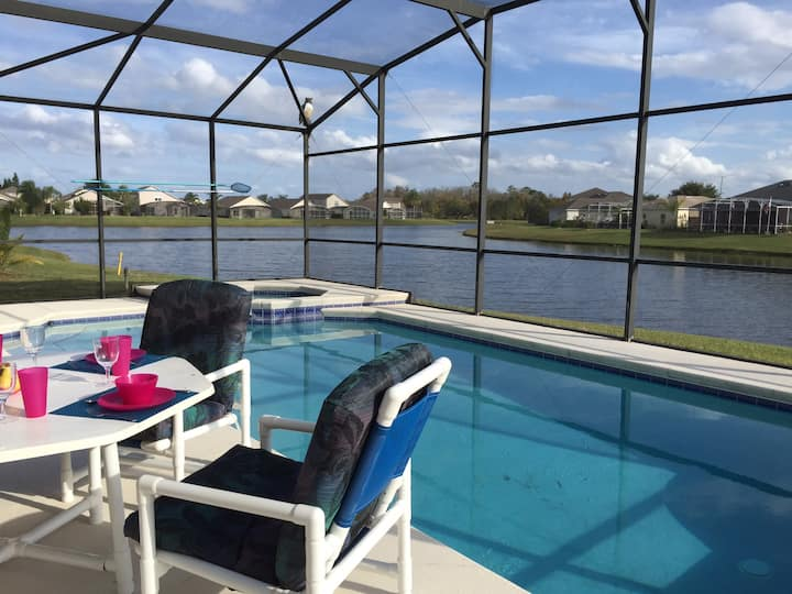 South Facing Lakeside Florida Pool Home