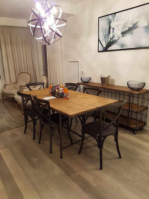 Dining table and main area
