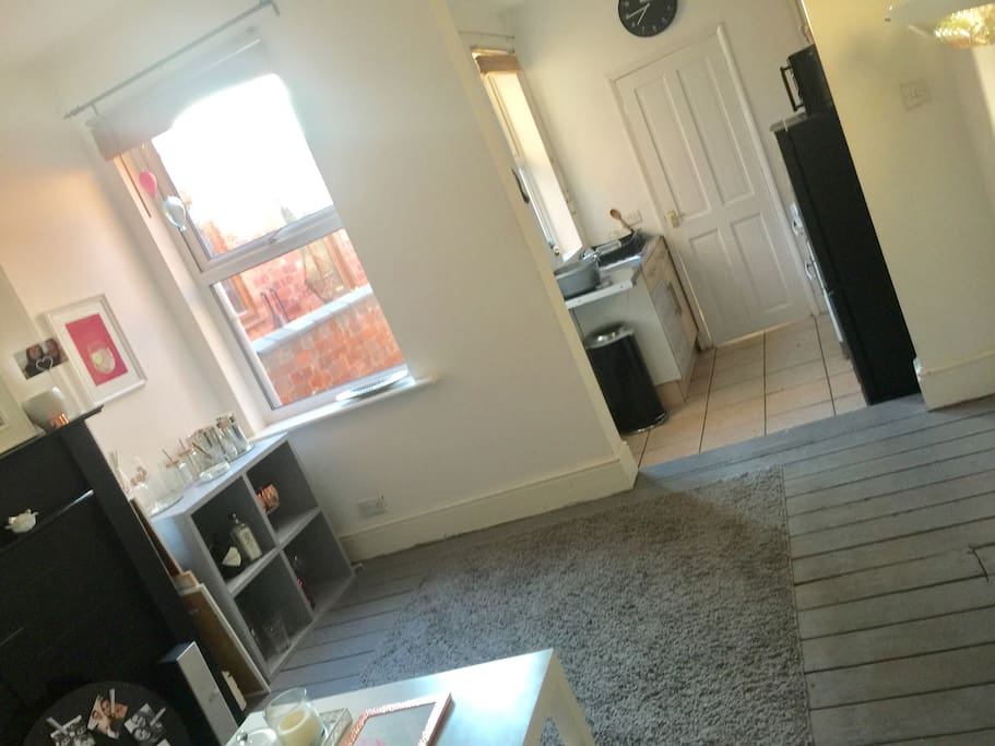 Second shared living space and kitchen