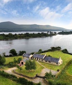 Oasis of calm with panoramic views of Kenmare Bay.