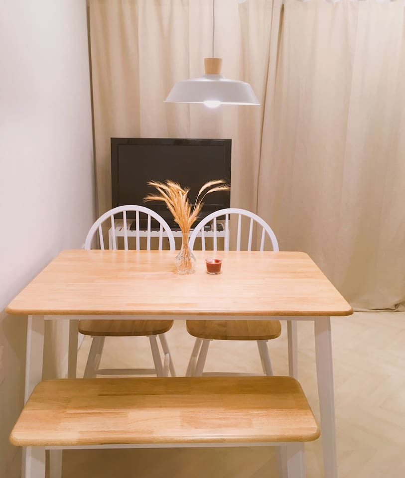 Dining table & Television