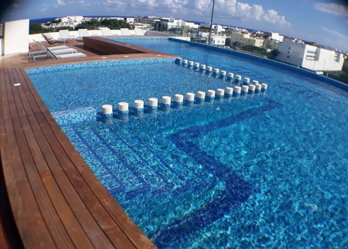 Rooftop pool with great views..