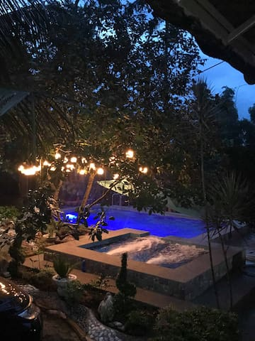 Rest House with Pool and Outdoor Theater for Rent