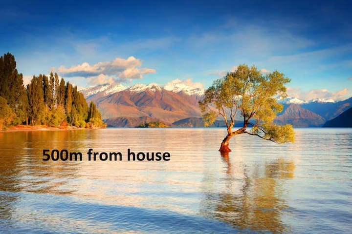 Close to Wanaka lake & town - private room/ensuite - Wanaka - Hus