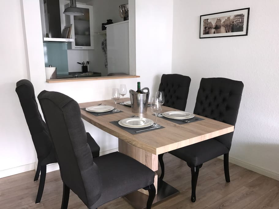 Dining Table with pass-through into Kitchen