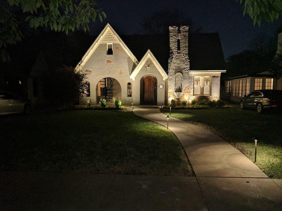 Custom outdoor LED lighting design.