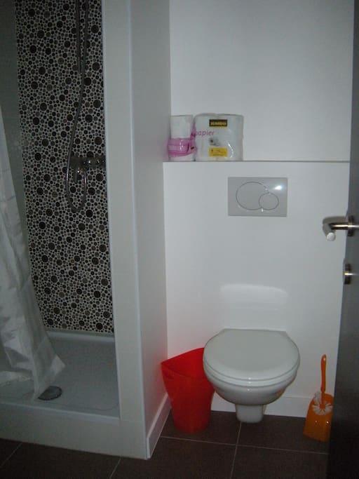 Salle de Douche, Lavabo & WC