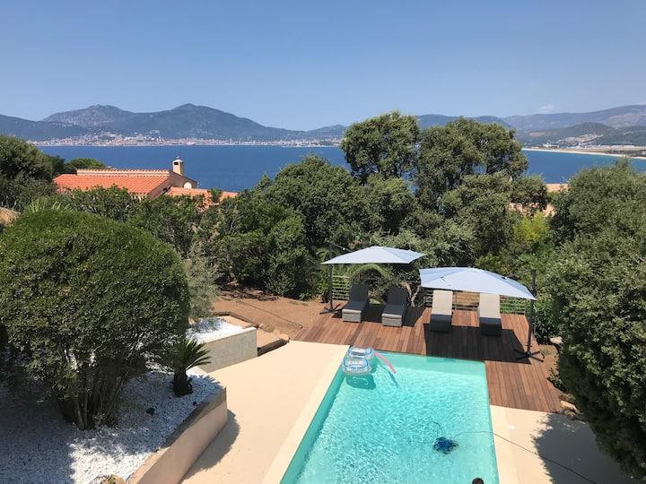 Villa Luxe Corse Ajaccio vue Mer/ Piscine chauffée