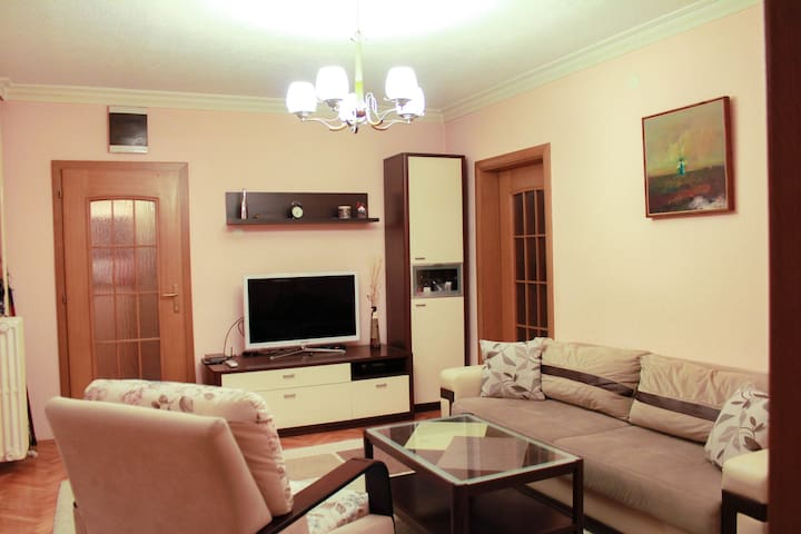 2bd very clean and cozy apt in the city center