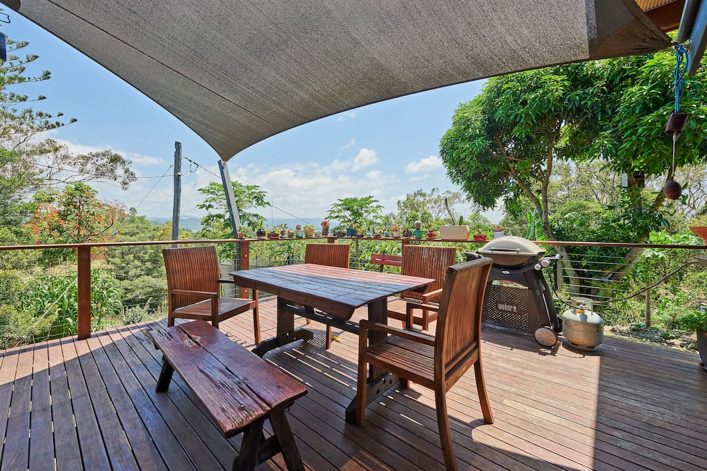 BBQ area with views of the Range & MT Warning.