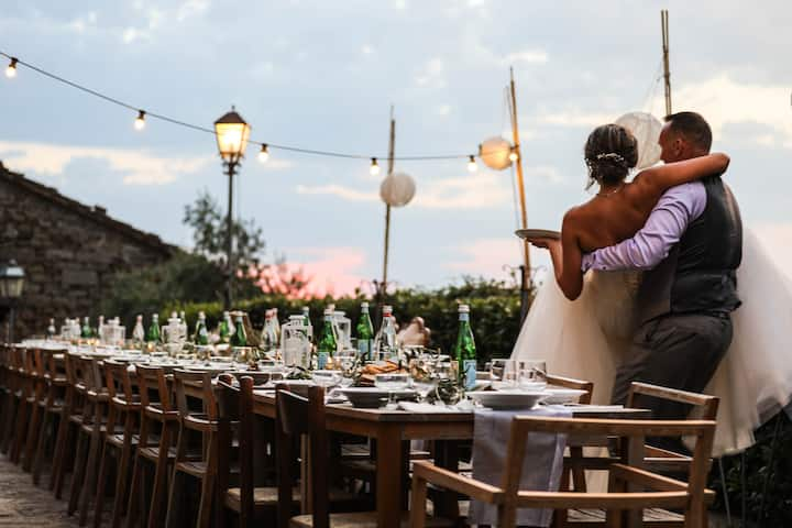 Tuscan Castle for Groups & Weddings (90 Guests!)