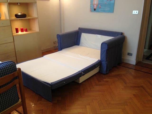 Questo e' il secondo divano letto nella Cucina/living perfetto per una/due persone o bimbi
