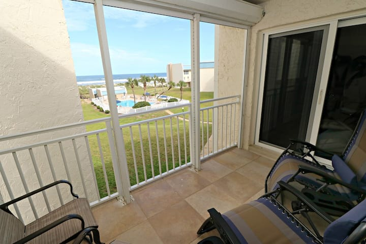 Tradewinds 113-STUNNING Unit with Upgraded Kitchen & Bathroom, Ocean View, and Private Balcony!  Property has a Boat Ramp on Intracoastal!