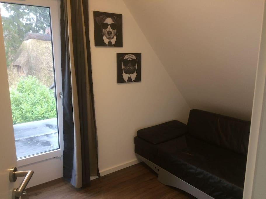 Kleines Zimmer auch mit Seeblick und 2. Fernseher