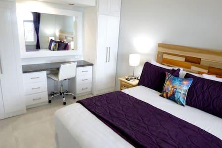 Bedroom, Desk and Mirror