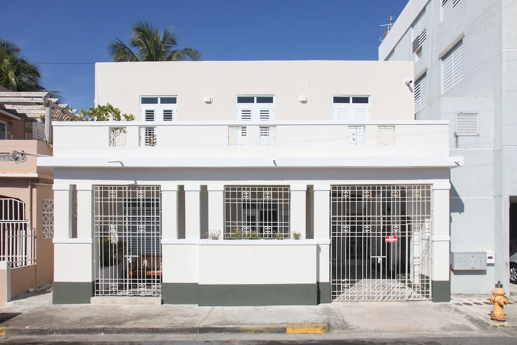 The beautiful, recently renovated early 20th Caribbean style house
