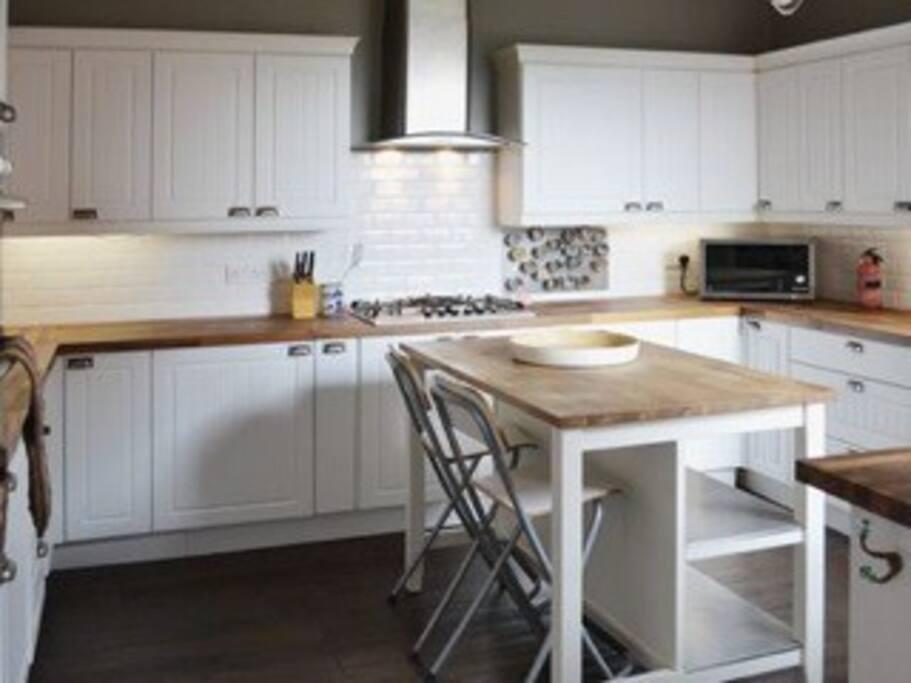 Stylish large kitchen