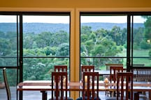 Dining with stunning valley views