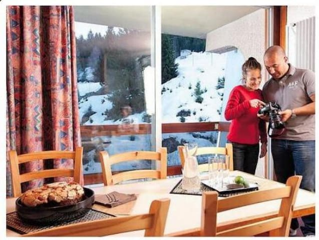 Studio 27 m2, 4 personnes tout équipé vue montagne - Saint-Bon-Tarentaise - Apartemen