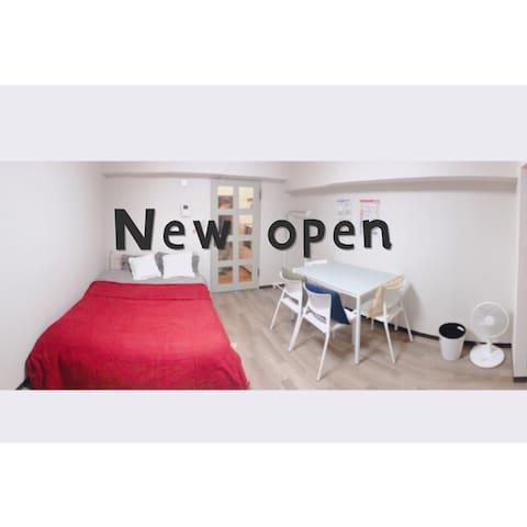 •New open •MAX 4人,subway 1min★便利!大通西18丁目駅すぐ★出張も便利!