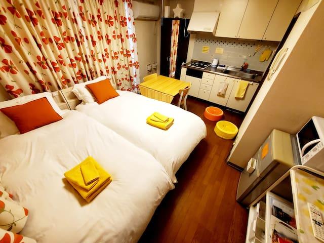 Cleaning¥0!!2beds!petit room201三宮10minWi-Fi