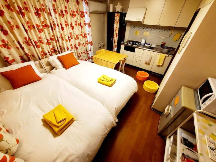 Cleaning¥0!!2beds!petit room201三宮10minWi-Fi
