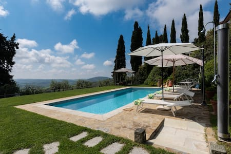 Ancient Barn in Chianti with Pool