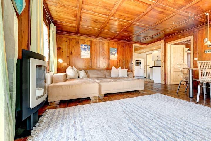 Appartement Walserstuba - Couch - auch als Schlafcouch nutzbar