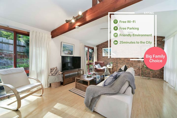 Large 3Bedroom 3Bathroom house near Macquarie Uni