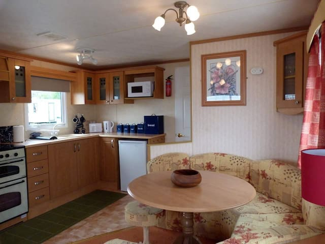 Large dining area & fully equiped kitchen.