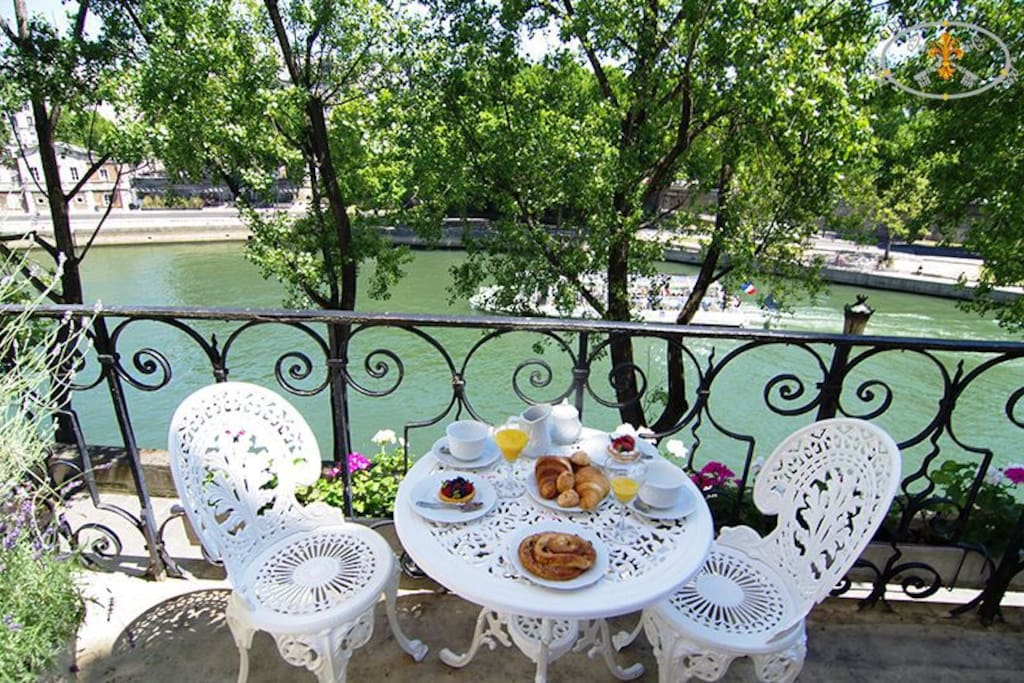 Happiness is a private terrace in Paris!