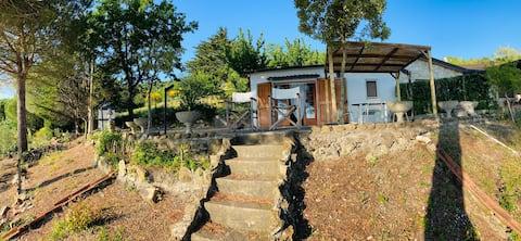 CASA BARDI Castellina - the view with the studio