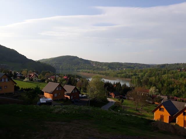 widok z domków