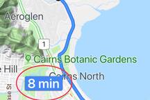 Only 8 minutes from the airport.