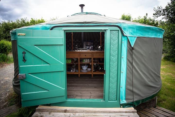 Tir Bach Farm The Carved Yurt