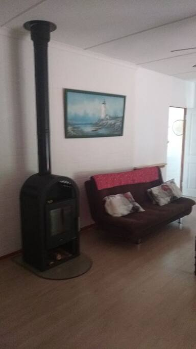 fire place in lounge