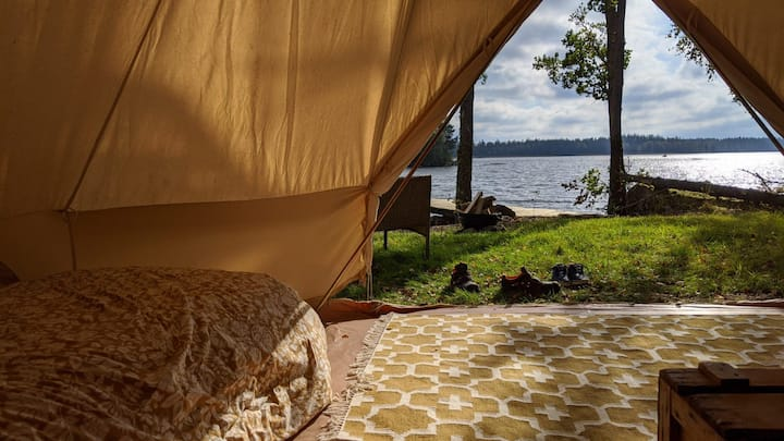 Tält vid Ornungasjön