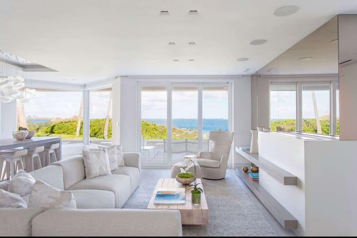 ASK FOR DISCOUNTS - Newly Renovated, Modern Luxury, Oceanfront Villa on Fisher Island