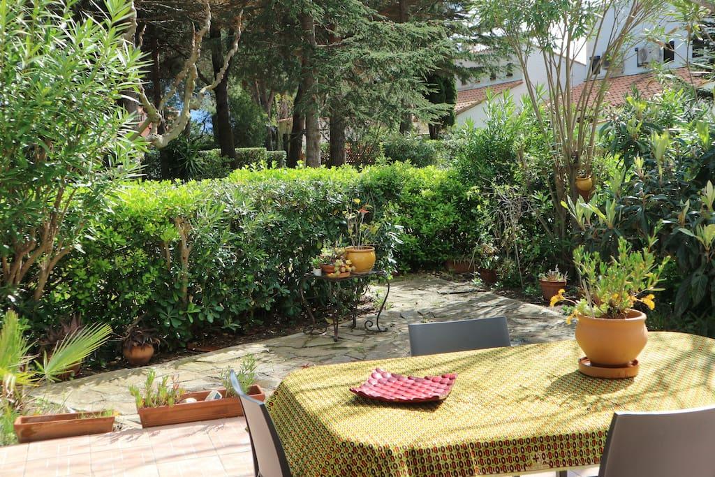 jardin et sa jolie vue arborée