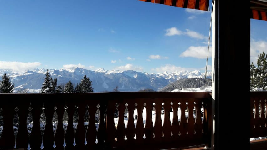 2 rooms flat with a view in Villars-sur-Ollon.