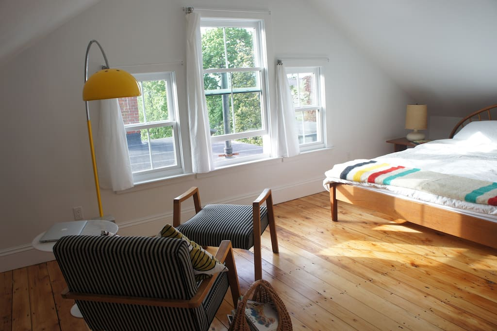 First Bedroom with the King bed.