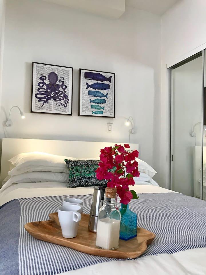 Quiet and spacious beach apartment