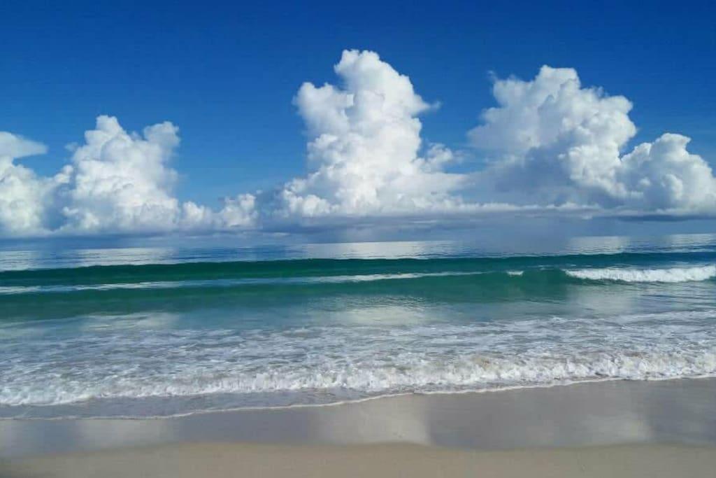 crystal clear sea and clean beach