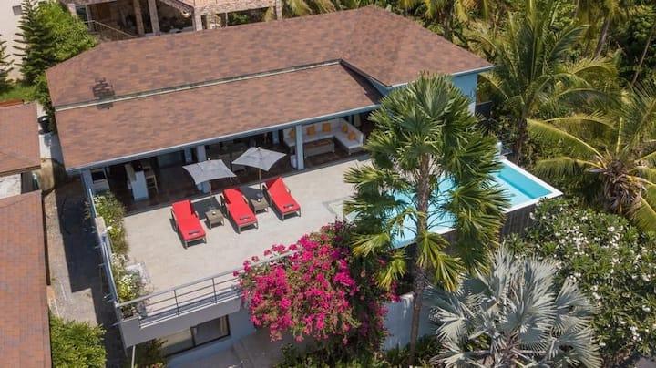 LAMAI BEACH - Amazing pool villa seaview - 3 beds