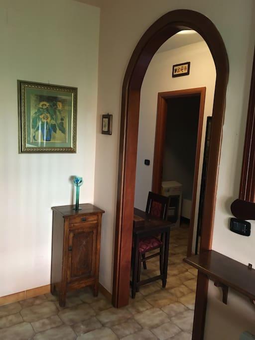 Veduta al centro dell'appartamento