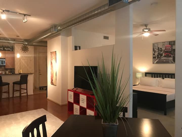 Cozy loft in the middle of the Galleria area!