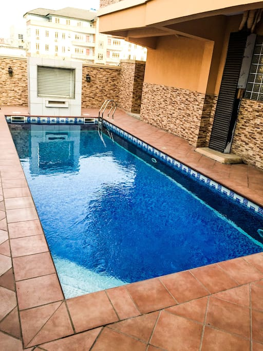 The Swimming pool to relax after a hard day at the office.