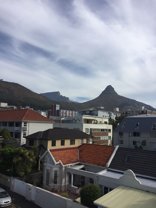 View of table mountain and lions head from the main room
