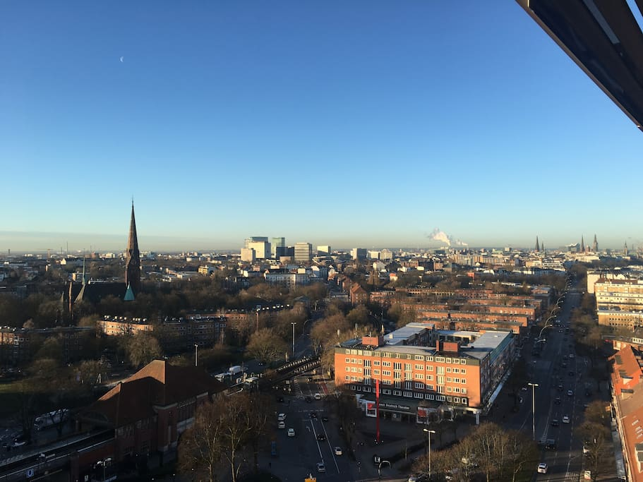 Blick über Hamburg inklusive Alster