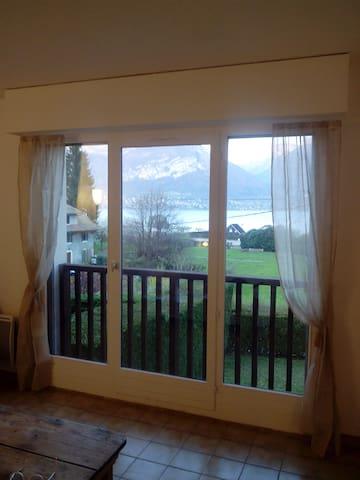 Très belle vue sur le lac, confortable T4. - Sévrier - Apartment